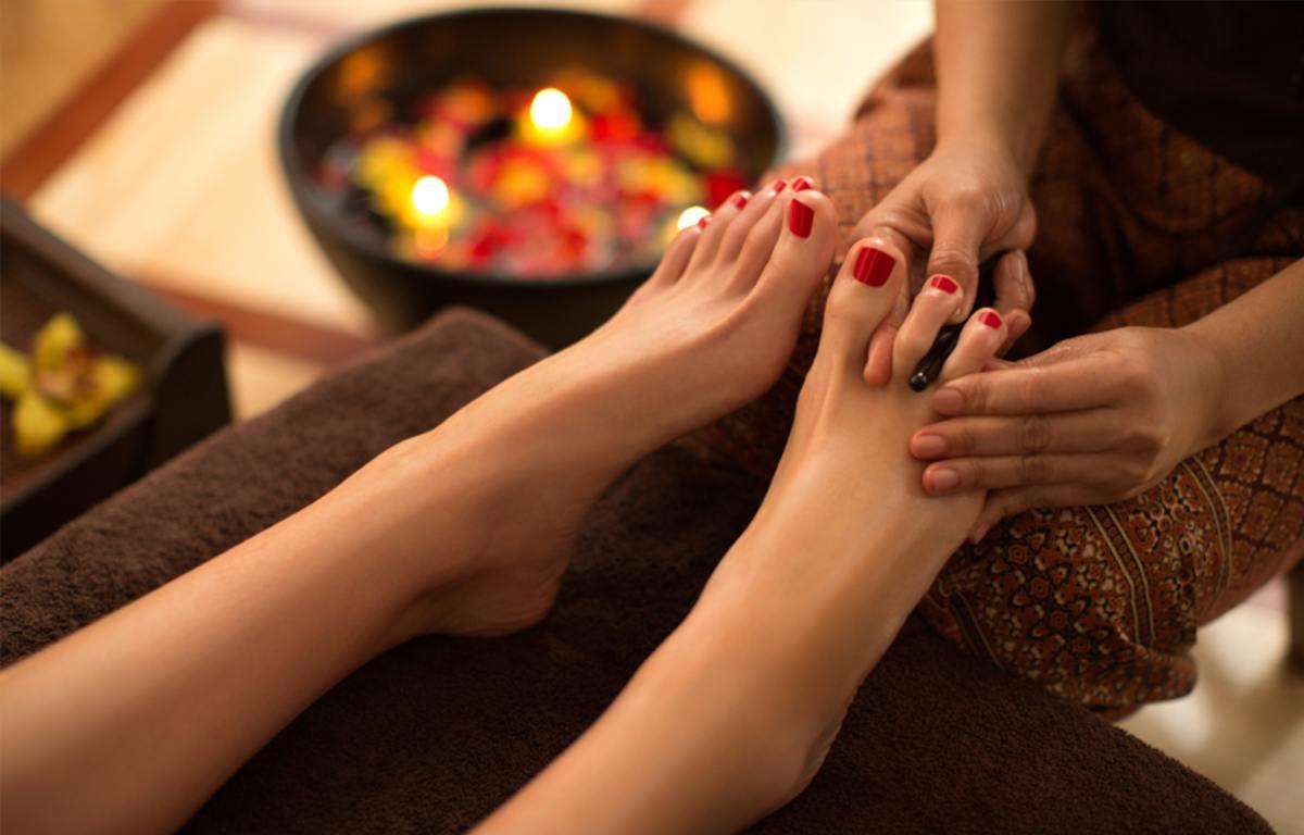 Fußmassage bei MeeDee Thaimassage in Bad Aibling